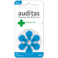 Auditas Mercury Free Type 675: 6 Batterien