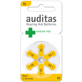 Auditas Mercury Free Type 10: 10 Blister + 1Gratis